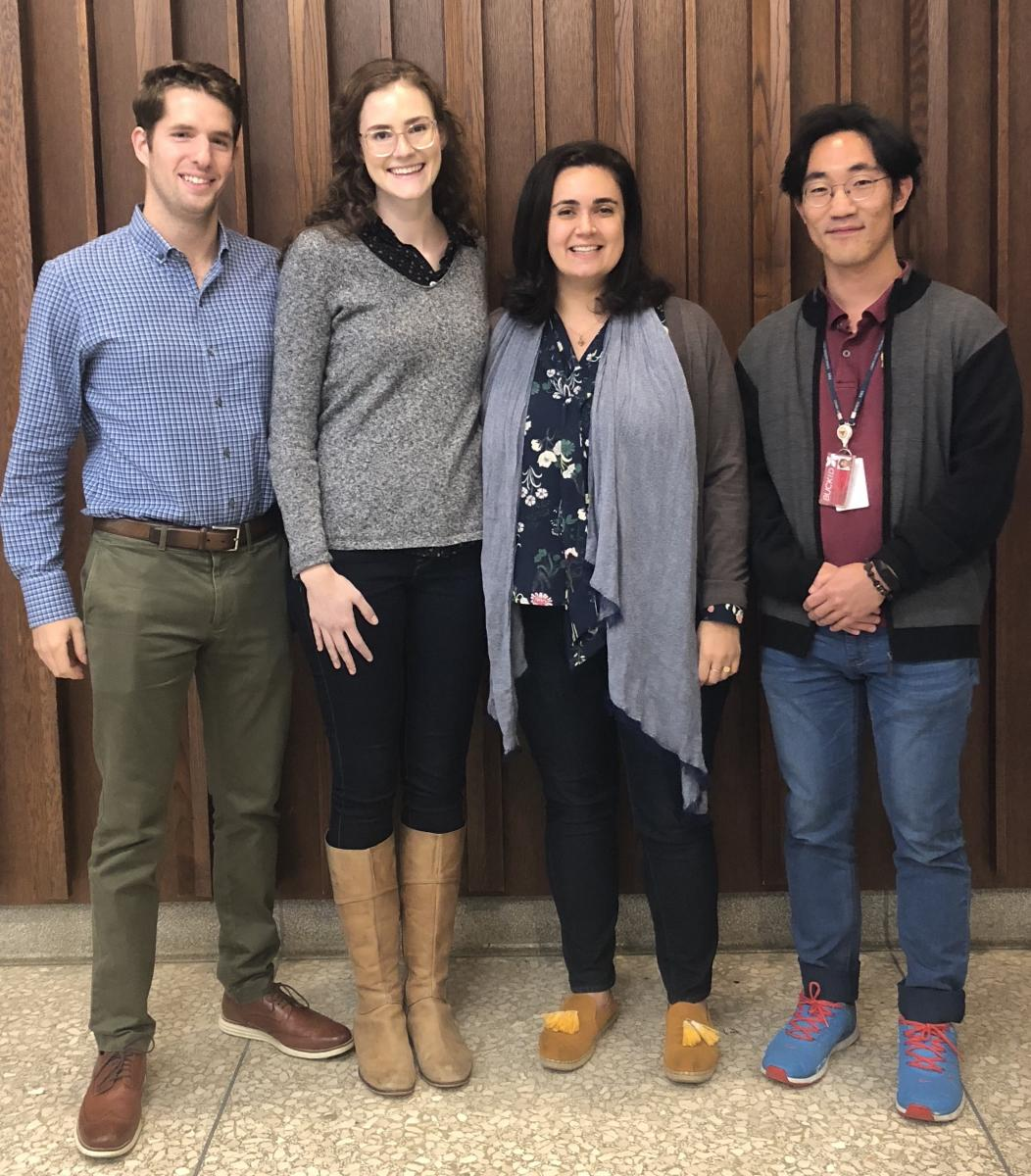 The HCS part of the Cooperstone Lab at the HCS Grad Research Symposium October 2018, Wooster, Ohio.